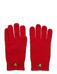 Racked rib gloves - TOMATO RED
