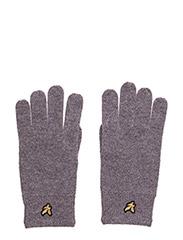 Racked rib gloves - MID GREY MARL