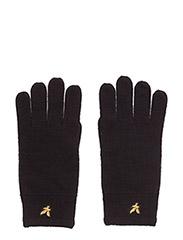 Racked rib gloves - TRUE BLACK