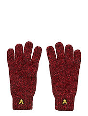Mouline Gloves - GRENADINE RED/DARK NAVY