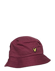 Cotton Twill Bucket Hat - CLARET JUG