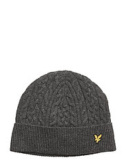 Cable Beanie - CHARCOAL MARL