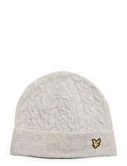 Cable Beanie - OFF WHITE MARL