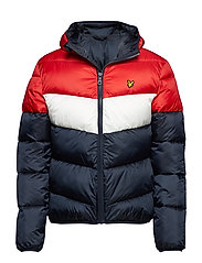 Colour Block Puffa Jacket - DARK NAVY