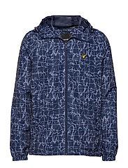 Printed Zip Through Jacket - NAVY POOL PRINT