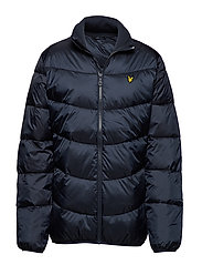 Funnel Neck Puffa Jacket - DARK NAVY