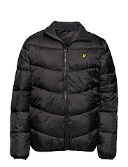 Funnel Neck Puffa Jacket - TRUE BLACK