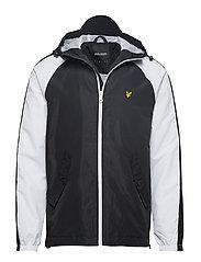 Colour Block Jacket - TRUE BLACK