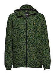 Geo Print Zip Through Hooded Jacket - GEO PRINT