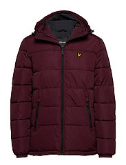 Wadded Jacket - BURGUNDY