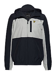 Colour Block Zip Through Jacket - DARK NAVY