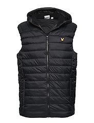 Lightweight Quilted Gilet - TRUE BLACK