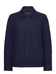 Herringbone Wool Jacket - DARK NAVY/ INDIGO