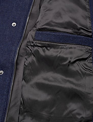 Lyle & Scott - Herringbone Wool Jacket - wool jackets - dark navy/ indigo - 4