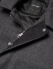 Lyle & Scott - Herringbone Wool Jacket - wool jackets - jet black/ mid grey marl - 2