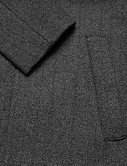 Lyle & Scott - Herringbone Wool Jacket - wool jackets - jet black/ mid grey marl - 3