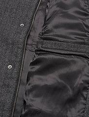 Lyle & Scott - Herringbone Wool Jacket - wool jackets - jet black/ mid grey marl - 4