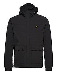 Hooded Pocket Jacket - JET BLACK