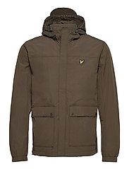 Hooded Pocket Jacket - TREK GREEN