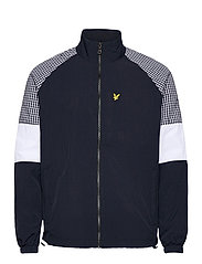 Gingham Mix Track Jacket - DARK NAVY