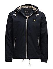 Hooded twill jacket - DARK NAVY
