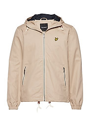 Hooded twill jacket - STONE