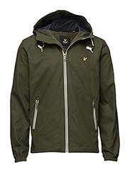 Hooded twill jacket - DARK SAGE