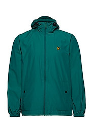 Zip Through Hooded Jacket - ALPINE GREEN