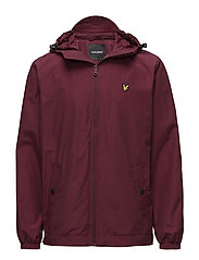 Zip Through Hooded Jacket - CLARET JUG