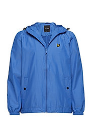Zip Through Hooded Jacket - CORNFLOWER BLUE