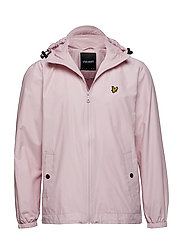Zip Through Hooded Jacket - DUSKY LILAC