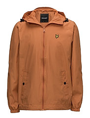 Zip Through Hooded Jacket - FOX ORANGE