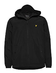 Zip Through Hooded Jacket - JET BLACK