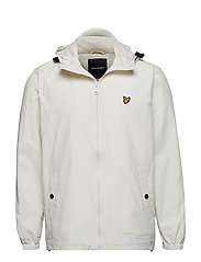 Zip Through Hooded Jacket - SNOW WHITE