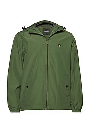 Zip Through Hooded Jacket - WOODLAND GREEN