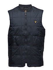 Quilted Gilet - NAVY JACKET