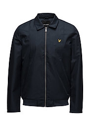 Collared Bomber Jacket - DARK NAVY