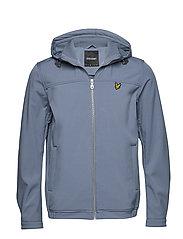 Hooded Softshell Jacket - MIST BLUE