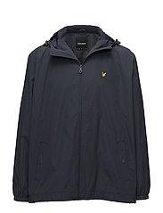 Zip Through Hooded Jacket - NAVY JACKET
