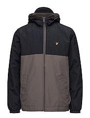 Colour Block Jacket - DARK NAVY