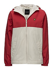Colour Block Jacket - TOMATO RED