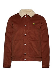 Jumbo Cord Shearling Jacket - BROWN SPICE