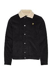 Jumbo Cord Shearling Jacket - TRUE BLACK