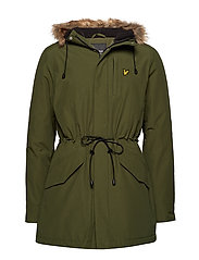 Winter Weight Microfleece Lined Parka - WOODLAND GREEN