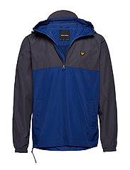 Colour Block 1/4 Zip Jacket - ANTHRACITE