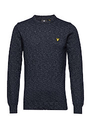 Mottled Jumper - DARK NAVY