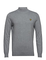 Turtle Neck Jumper - MID GREY MARL