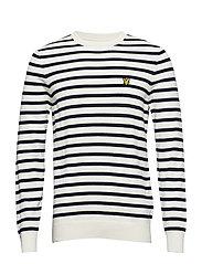 Breton Stripe Jumper - SNOW WHITE