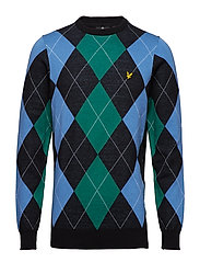 Argyle Jumper - TRUE BLACK