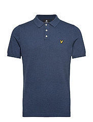 SS Knitted Polo - DARK NAVY MARL